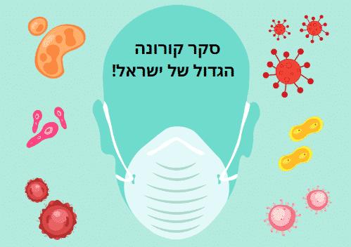 סקר הקורונה הגדול של ישראל